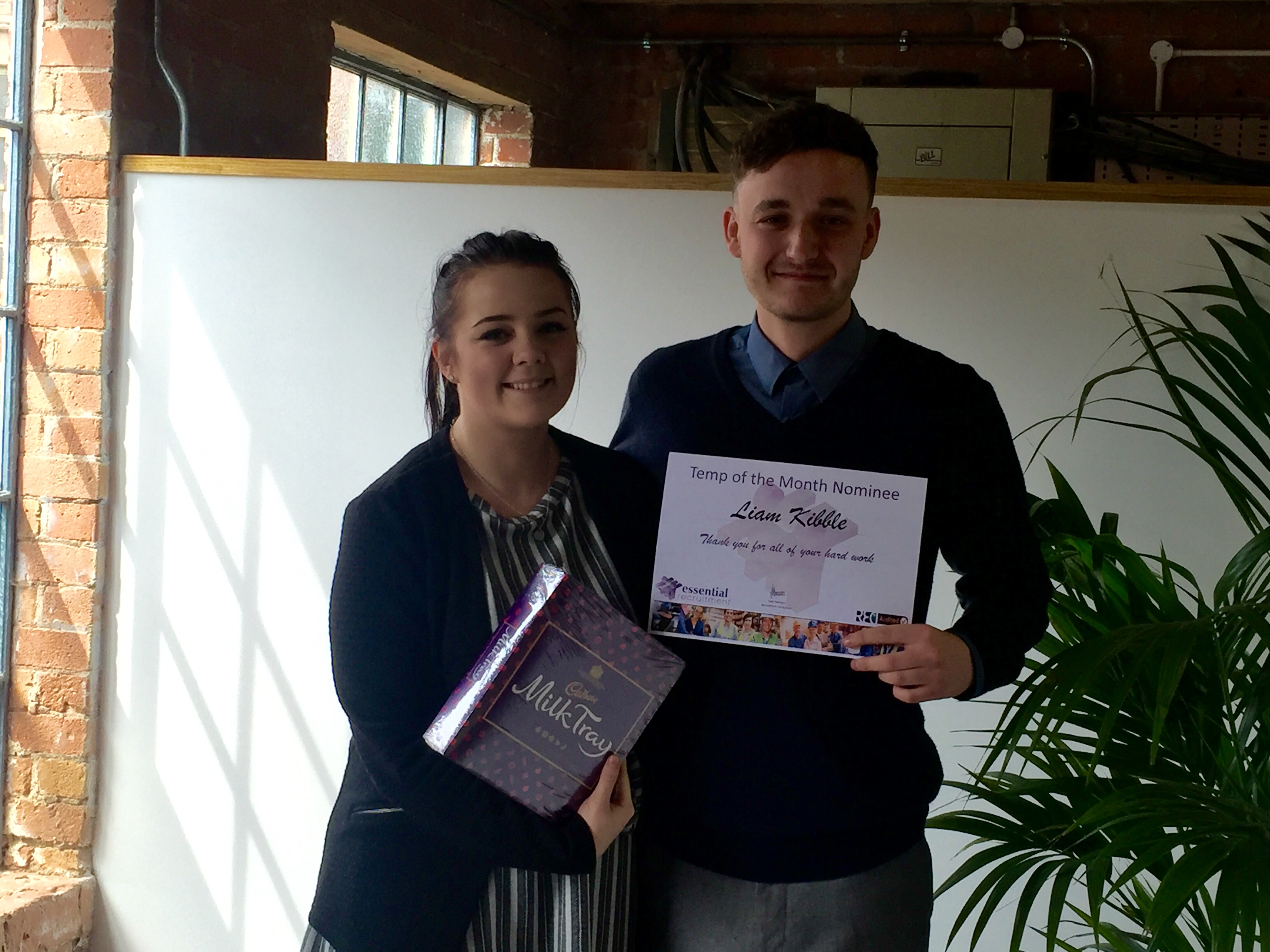 Nominee Liam Kibble Long Eaton April 16