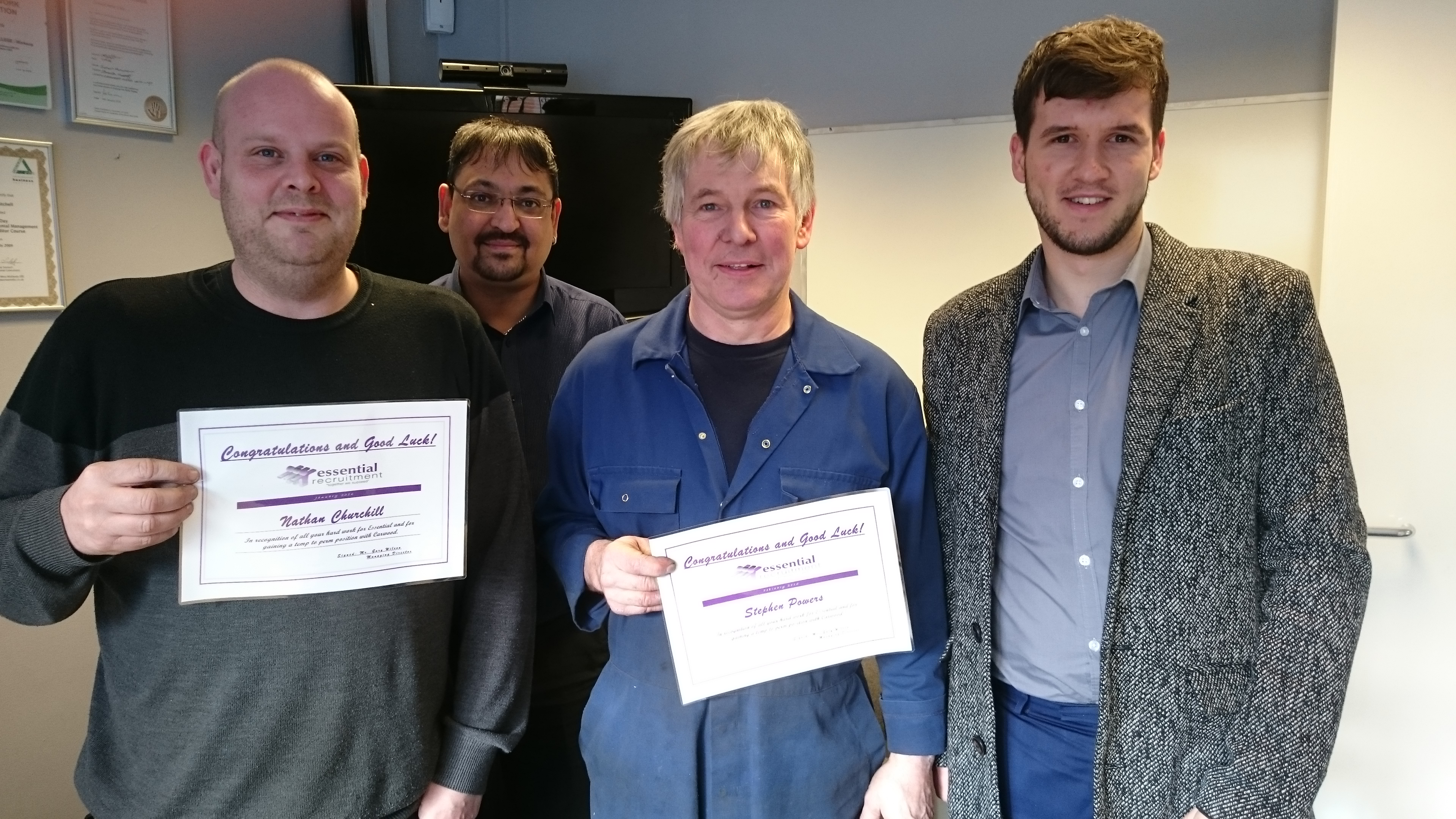 Stephen Powers and Nathan Churchill TTP Certificate Photo