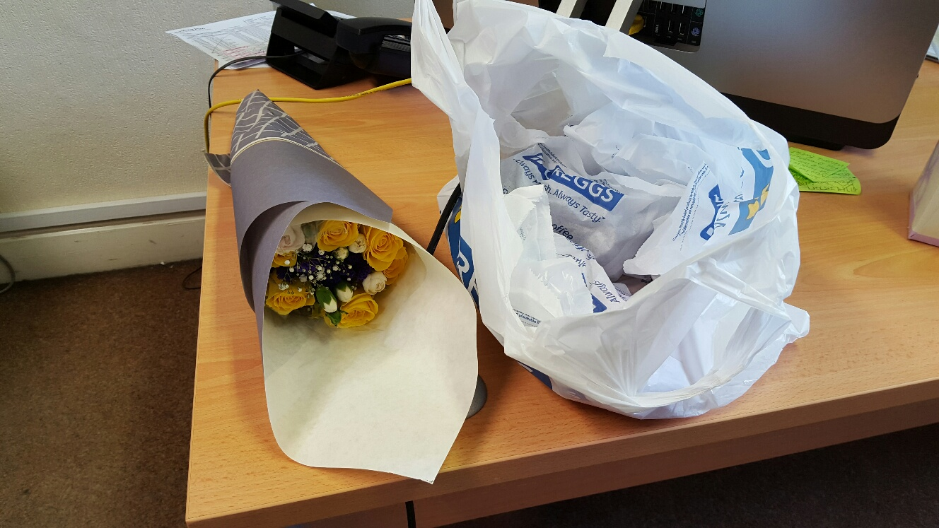 flowers and greggs
