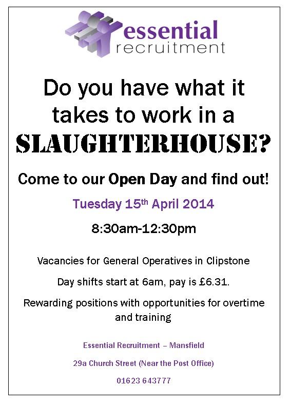 slaughterhouse open day